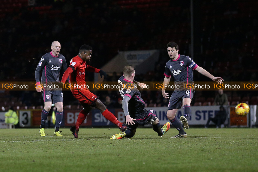 Gavin Massey of Leyton Orient goes close to a goal during Leyton Orient vs Morecambe, Sky Bet EFL League 2 Football at the Matchroom Stadium on 7th February 2017