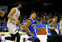 Corey Webster in action during the national basketball league match between Wellington Saints and Taylor Hawks at TSB Bank Arena in Wellington, New Zealand on Friday, 17 March 2017. Photo: Dave Lintott / lintottphoto.co.nz