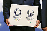 2020 Tokyo 2020 emblems, April 25, 2016 : Asao Tokolo attends press conference, regarding the Tokyo 2020 Olympic and Paralympic games official emblems in Tokyo, Japan. The Tokyo Organising Committee of the Olympic and Paralympic Games unveiled the emblems. (Photo by Yusuke Nakanishi/AFLO SPORT)