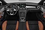 Stock photo of straight dashboard view of 2017 Mercedes Benz C Class AMG 63 S 2 Door Convertible