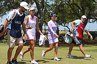 Lexi Thompson (USA) and So Yeon Ryu (KOR) share a laugh as they head down 5 during round 3 of the 2019 US Women's Open, Charleston Country Club, Charleston, South Carolina,  USA. 6/1/2019.<br /> Picture: Golffile | Ken Murray<br /> <br /> All photo usage must carry mandatory copyright credit (© Golffile | Ken Murray)