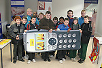 """Students from St. Josephs CBS Sundays Gate with the Drogheda Youth Development """"Call Me"""" phone at the Barbican Parish Centre Open Day...Photo NEWSFILE/Jenny Matthews.(Photo credit should read Jenny Matthews/NEWSFILE)....This Picture has been sent you under the condtions enclosed by:.Newsfile Ltd..The Studio,.Millmount Abbey,.Drogheda,.Co Meath..Ireland..Tel: +353(0)41-9871240.Fax: +353(0)41-9871260.GSM: +353(0)86-2500958.email: pictures@newsfile.ie.www.newsfile.ie.FTP: 193.120.102.198."""