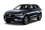 2018 Volvo XC60 Momentum 5 Door SUV angular front stock photos of front three quarter view