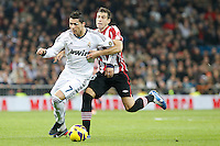 Real Madrid CF vs Athletic Club de Bilbao (5-1) at Santiago Bernabeu stadium. The picture shows Cristiano Ronaldo and Borja Ekiza. November 17, 2012. (ALTERPHOTOS/Caro Marin) NortePhoto
