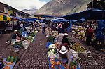 Pisac is a picturesque Andean Village, typical except for the huge, spreading pisonary tree that dominates the central square. The village is best known for its Sunday market, which draws hundreds of tourists each week. In spite of its popularity the market retains much of its local charm, at least in the part where villagers from miles around gather to barter and sell their produce.