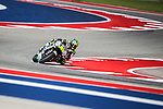 MotoGP riders practicing before the Red Bull Grand Prix of the Americas at the Circuit of the Americas racetrack in Austin,Texas.