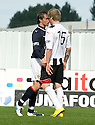 07/08/2010   Copyright  Pic : James Stewart.sct_jsp013_falkirk_v_dunfermline  .::  MARK MILLAR AND WULLIE GIBSON FACE UP TO EACH OTHER BEFORE MILLAR GETS SENT OFF ::  .James Stewart Photography 19 Carronlea Drive, Falkirk. FK2 8DN      Vat Reg No. 607 6932 25.Telephone      : +44 (0)1324 570291 .Mobile              : +44 (0)7721 416997.E-mail  :  jim@jspa.co.uk.If you require further information then contact Jim Stewart on any of the numbers above.........