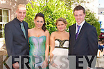DEBS: Enjoying a great time at the Milltown Debs at the Abbeygate Hotel, Tralee on Friday l-r: Sean Deinum, Siobhan Farrell, Kirstie Devane and Kevin Griffin.