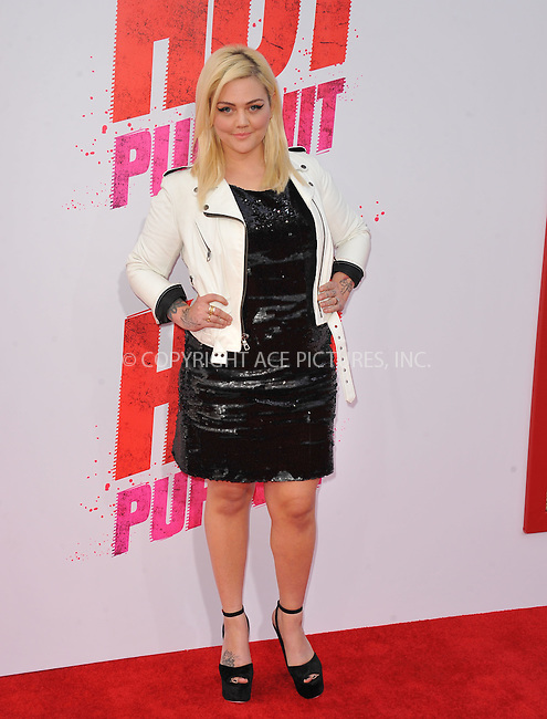 WWW.ACEPIXS.COM<br /> <br /> April 30 2015, LA<br /> <br /> Elle King arriving at the premiere of 'Hot Pursuit' at the TCL Chinese Theatre on April 30, 2015 in Hollywood, California. <br /> <br /> <br /> Please byline: Peter West/ACE Pictures<br /> <br /> ACE Pictures, Inc.<br /> www.acepixs.com<br /> Email: info@acepixs.com<br /> Tel: 646 769 0430