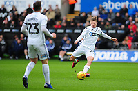 George Byers of Swansea City in action during the Sky Bet Championship match between Swansea City and Millwall at the Liberty Stadium in Swansea, Wales, UK. Saturday 09 February 2019