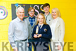 Sixth class student Grace McLoughlin from Caherleaheen NS has never missed a day of school in 8 years. Pictured with family Seamus McLoughlin, Allan McLoughlin, Colm McLouglin, and Helen McLoughlin