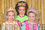 SMILES: Katie Feirtéar (Dingle), Rachel McGillicuddy (Gneevegulla) and Jenna Feirtéar (Dingle) getting ready for the Feis at The Earl of Desmond Hotel,Tralee on Sunday.... ..............................   Copyright Kerry's Eye 2008