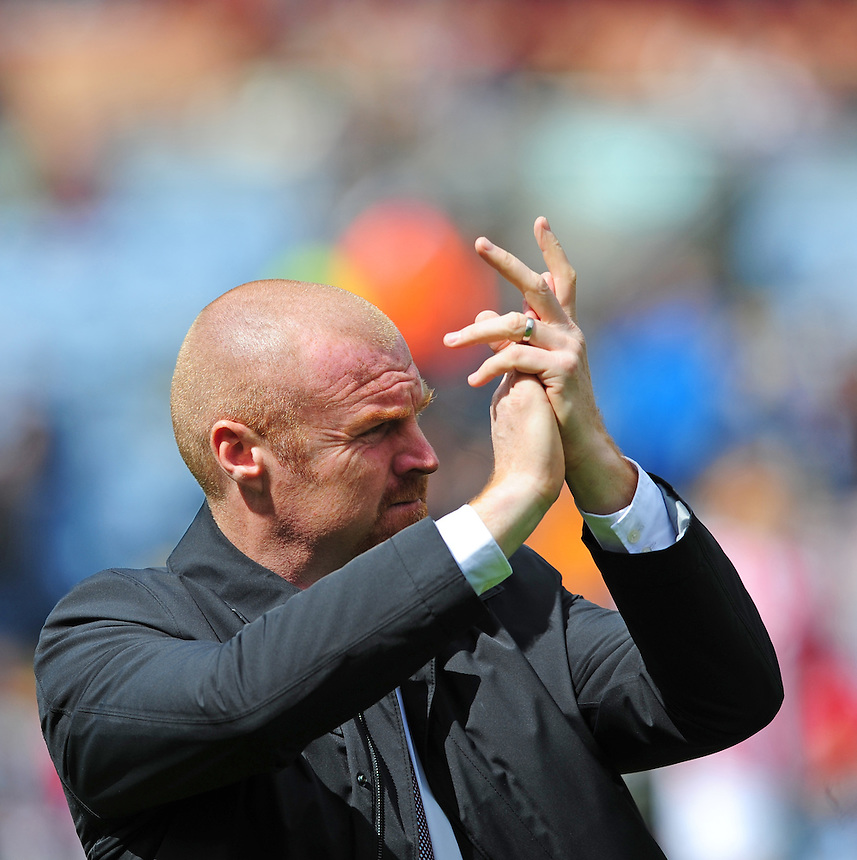 Burnley manager Sean Dyche <br /> <br /> Photographer Chris Vaughan/CameraSport<br /> <br /> Football - Barclays Premiership - Burnley v Stoke City - Saturday 16th May 2015 - Turf Moor - Burnley<br /> <br /> &copy; CameraSport - 43 Linden Ave. Countesthorpe. Leicester. England. LE8 5PG - Tel: +44 (0) 116 277 4147 - admin@camerasport.com - www.camerasport.com
