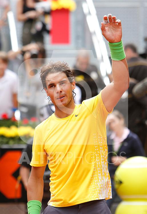 Spain's Rafael Nadal during Mutua Madrilena Tennis Open on May 6, 2011...Photo: Alex Cid-Fuentes / ALFAQUI