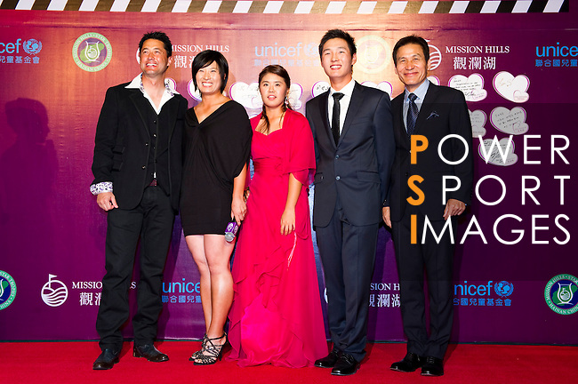 HAIKOU, CHINA - OCTOBER 29:  (L-R) Hong Kong actor Michael Wong, Se Ri Pak, He Yong Choi, Dany Lee of New Zealand and Ahn Sung Ki attend red carpet during day three of the Mission Hills Start Trophy tournament at Mission Hills Resort on October 29, 2010 in Haikou, China. Photo by Victor Fraile / The Power of Sport Images