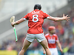 Darragh Fitzgibbon of Cork reacts to a referees decision against his team during their Munster Senior game against Clare  at Pairc Ui Chaoimh. Photograph by John Kelly.