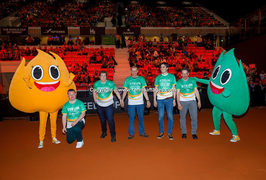 The Hague, The Netherlands, Februari 8, 2020,    Sportcampus, FedCup  Netherlands -  Balarus, Support<br /> Photo: Tennisimages/Henk Koster