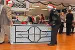 Merrick Post #1282 of American Legion members play music and sing holiday songs for veterans at Northport VA Medical Center on December 10, 2011, in Northport, New York, USA. Arranged by PCC Robert Thomas Riordan, and Booker T. Gibson (Merrick) plays piano while veterans sing Christmas songs. photos © 2011 Ann Parry, All rights reserved. ann-parry.com