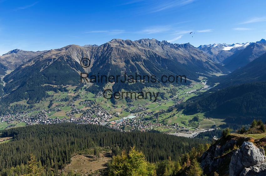 Schweiz, Graubuenden, Klosters: Blick vom Gotschna auf Klosters | Switzerland, Graubuenden, Klosters: view from Gotschna mountain at Klosters