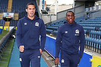 Blackburn Rovers' Jack Rodwell and Blackburn Rovers' Amari'i Bell<br /> <br /> Photographer Rachel Holborn/CameraSport<br /> <br /> The EFL Sky Bet Championship - Blackburn Rovers v Aston Villa - Saturday 15th September 2018 - Ewood Park - Blackburn<br /> <br /> World Copyright &copy; 2018 CameraSport. All rights reserved. 43 Linden Ave. Countesthorpe. Leicester. England. LE8 5PG - Tel: +44 (0) 116 277 4147 - admin@camerasport.com - www.camerasport.com