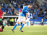 St Johnstone v FC Spartak Trnava...31.07.14  Europa League 3rd Round Qualifier<br /> Dave Mackay celebrates his goal<br /> Picture by Graeme Hart.<br /> Copyright Perthshire Picture Agency<br /> Tel: 01738 623350  Mobile: 07990 594431
