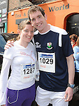 Cait O'Sullivan and Austin McCann who took part in the Boyne 10K run. Photo: Colin Bell/pressphotos.ie