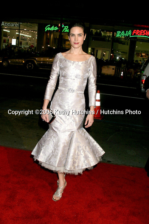 """Jennifer Connelly.""""Blood Diamond"""" Premiere.Grauman's Chinese Theater.Los Angeles, CA.December 6, 2006.©2006 Kathy Hutchins / Hutchins Photo."""