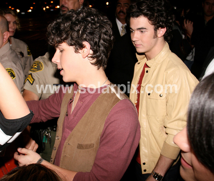 **ALL ROUND PICTURES FROM SOLARPIX.COM**.**WORLDWIDE SYNDICATION RIGHTS EXCEPT FOR USA, AUSTRALIA & GERMANY**.Jonas Brothers (Kevin, Joe and Nick) arrive at the Roxy Theatre for their live show. Hollywood, California, USA. 14th November 2008..JOB REF: 7941  LAS       DATE: 14_11_2008.**MUST CREDIT SOLARPIX.COM OR DOUBLE FEE WILL BE CHARGED* *UNDER NO CIRCUMSTANCES IS THIS IMAGE TO BE REPRODUCED FOR ANY ONLINE EDITION WITHOUT PRIOR PERMISSION*