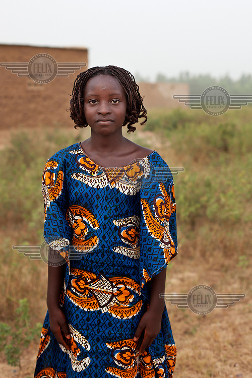 A portrait of a girl in Bambougou.