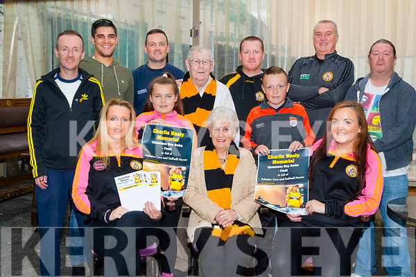 ANNOUNCEMENT: Announcing details of the Charlie Healy Memorial Christmas Swim,Fenit in aid of the Paliative Care and Daffodil Nurse in The Greyhound Bar,Tralee on Saturday. Front l-r: Lorraine Healy,Charley Healy,Ena Healy,Sean Healy and Chloe Smith. Back l-r: Cathal Healy,Wayne Guthrie,Paudie Healy,Sonny Healy,Richard Healy,John Tobin and John Healy.