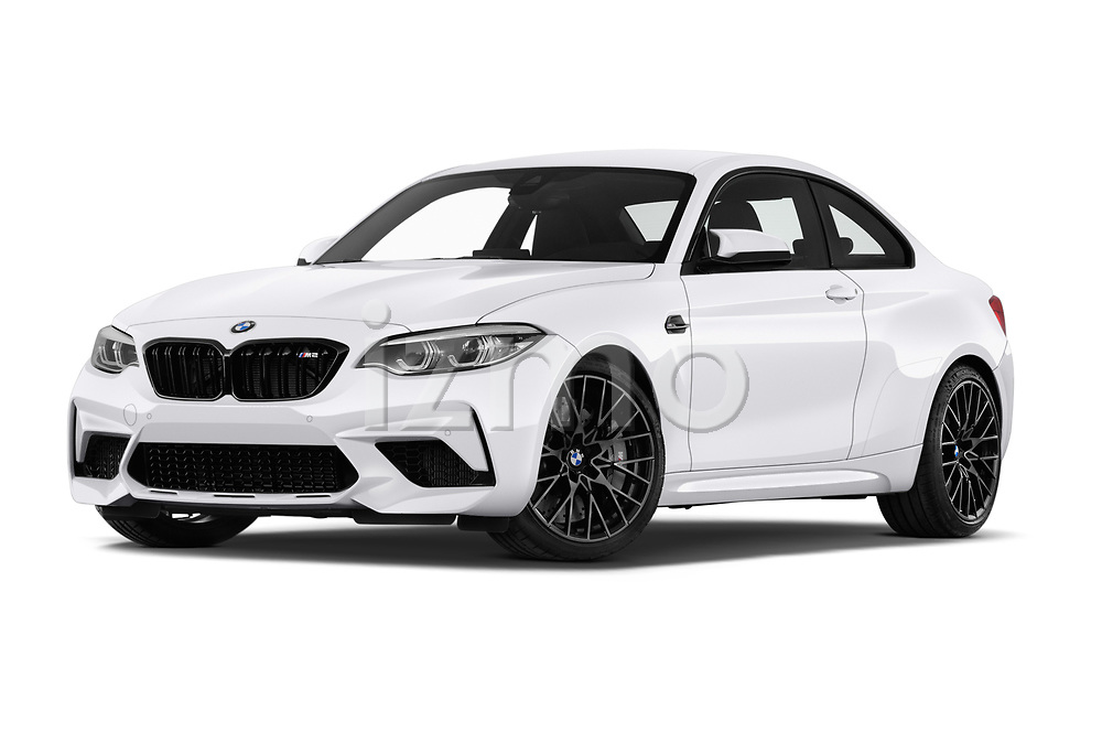 Stock pictures of low aggressive front three quarter view of a 2019 BMW m2 competition Base 2 Door Coupe