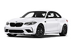 Stock pictures of low aggressive front three quarter view of a 2020 BMW m2 competition Base 2 Door Coupe