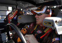 Feb 10, 2007; Daytona, FL, USA; Nascar Nextel Cup driver Dale Jarrett (88) during practice for the Daytona 500 at Daytona International Speedway. Mandatory Credit: Mark J. Rebilas..