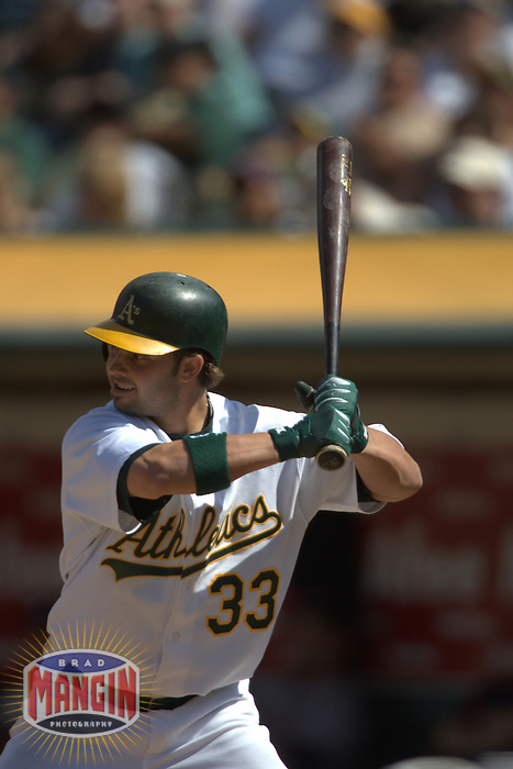 Nick Swisher. Baseball: Minnesota Twins vs Oakland Athletics. Oakland, CA 8/13/2005 MANDATORY CREDIT: Brad Mangin