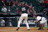 Wendell Champion II (25) of the Houston Cougars at bat against the Mississippi State Bulldogs in game six of the 2018 Shriners Hospitals for Children College Classic at Minute Maid Park on March 3, 2018 in Houston, Texas. The Bulldogs defeated the Cougars 3-2 in 12 innings. (Brian Westerholt/Four Seam Images)