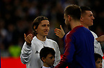 Real Madrid CF's Luka Modric and FC Barcelona's Ivan Rakitic during Spanish Kings Cup semifinal 2nd leg match. February 27, 2019. (ALTERPHOTOS/Manu R.B.)