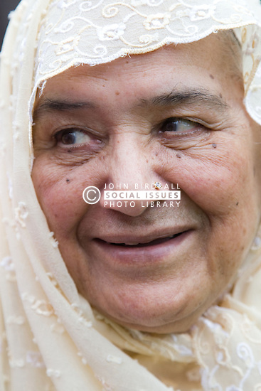 Portrait of a woman smiling,