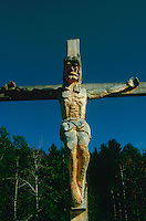 Made in Vermont, Christ on the Cross, folk art by chainsaw
