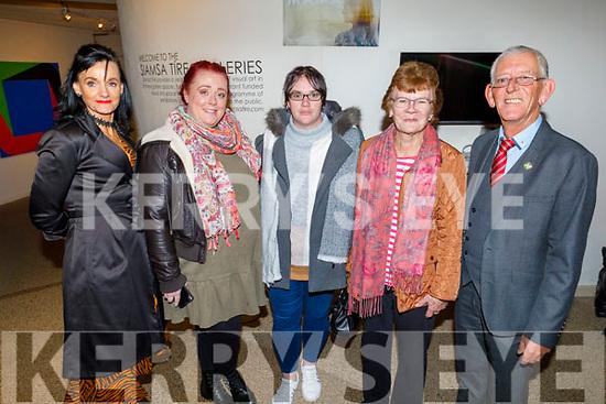 Mary Lucey, Catriona Locke, Freda Moriarty, Josie Brown and Cllr: Sam Locke attending the screening of Kilamanjaro Mama in Siamsa Tire on Thursday,