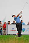 29 August 2009: Webb Simpson tees off during the third round of The Barclays PGA Playoffs at Liberty National Golf Course in Jersey City, New Jersey.