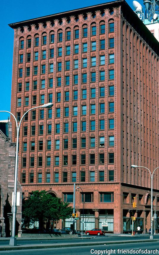 Louis Sullivan: Guaranty Building, 28 Church St., Buffalo, NY. 1895-1896.  Photo '88.