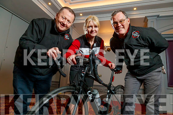 John Murray, Avril Hewitt and Tomas Crowley of the Chain Gang cycling club launching the Information night which takes place on Thursday 27th February at 8pm to The Meadowlands Hotel, Tralee.