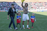 Carson, CA - Sunday, February 8, 2015 Jermaine Jones (13) of the USMNT. The USMNT defeated Panama 2-0 during an international friendly at the StubHub Center.