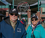 Ted and Ronni during the 2019 opening day game between the Reno Aces and the Albuquerque Isotopes at Greater Nevada Field in Reno, Nevada on Tuesday, April 9, 2019.