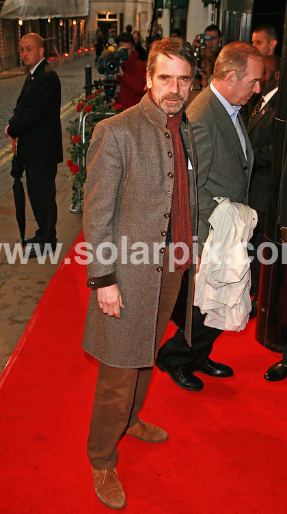 "**ALL ROUND PICTURES FROM SOLARPIX.COM**.The ""La Vie En Rose"" London Premiere, Curzon Cinema in Mayfair London. .This pic:Jeremy Irons.JOB REF:3630-GMT   DATE:29_03_07 .**MUST CREDIT SOLARPIX.COM OR DOUBLE FEE WILL BE CHARGED* *UNDER NO CIRCUMSTANCES IS THIS IMAGE TO BE REPRODUCED FOR ANY ONLINE EDITION WITHOUT PRIOR PERMISSION*"