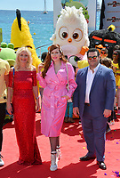 """CANNES, FRANCE. May 13, 2019: Irma Knol, Sonia Plakidyuk & Josh Gad at the photocall for """"The Angry Birds Movie 2"""" at the Festival de Cannes.<br /> Picture: Paul Smith / Featureflash"""