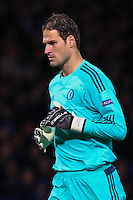 Asmir Begovic of Chelsea during the UEFA Champions League match between Chelsea and Maccabi Tel Aviv at Stamford Bridge, London, England on 16 September 2015. Photo by David Horn.