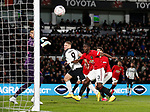 Martyn Waghorn of Derby County heads just wide of the post during the FA Cup match at the Pride Park Stadium, Derby. Picture date: 5th March 2020. Picture credit should read: Darren Staples/Sportimage