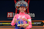 Canada's Michael Woods (CAN) EF Education First, a former world-class runner, claimed his first one-day race victory at the world's oldest classic the 100th edition of Milano-Torino running 179km from Magenta to the Basilica at Superga in Turin, Italy. 9th Octobre 2019. <br /> Picture: Fabio Ferrari/LaPresse | Cyclefile<br /> <br /> All photos usage must carry mandatory copyright credit (© Cyclefile | LaPresse/Fabio Ferrari)