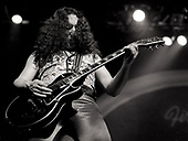 URIAH HEEP - lead guitarist Mick Box -  performing live at The Rainbow Theatre in London UK - 06 Mar 1977.  Photo credit: George Bodnar Archive/IconicPix